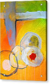 Rings Abstract Acrylic Print by Nancy Merkle