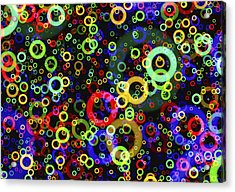 Rings In Space Acrylic Print by Daniel Hagerman