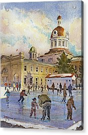 Rink At Kingston Market Square Acrylic Print