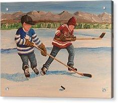 Rinkrattz - Winter Classic 2014 Acrylic Print by Ron  Genest