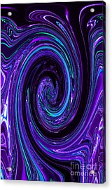 Rinse Cycle Blue And Purple Acrylic Print by George Zhouf