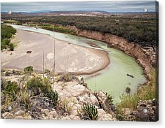 Rio Grande In Boquillas Canyon Acrylic Print by Bob Gibbons/science Photo Library