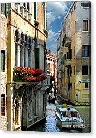 Acrylic Print featuring the photograph Rio Menuo O De La Verona. Venice by Jennie Breeze
