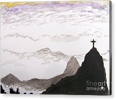 Rio Sunrise Acrylic Print by Kevin Croitz