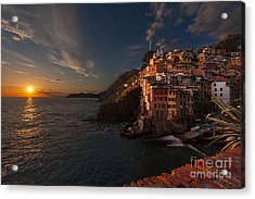Riomaggiore Peaceful Sunset Acrylic Print