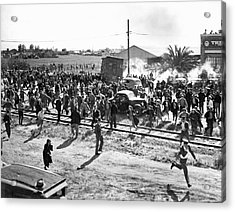 Riots At Cannery Strike Acrylic Print