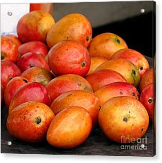 Ripe Red Mangoes For Sale Acrylic Print