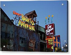 Ripleys Haunted Adventure And The Gay Dolphin-myrtle Beach South Carolina Acrylic Print by Suzanne Gaff
