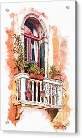 Riposo Acrylic Print by Greg Collins