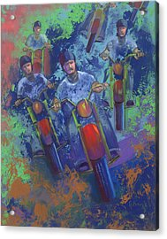Rippin It Up Acrylic Print by Peter Bonk
