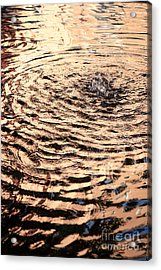 Ripple Reflection In Fountain Water Acrylic Print