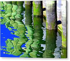 Ripple Reflections Acrylic Print by Ed Weidman