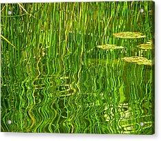 Rippled Reflection Acrylic Print by Rita Mueller