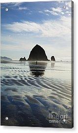 Rippled Sand At Cannon Beach Acrylic Print