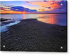 Rippled Sunset Acrylic Print