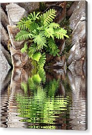Ripples And Reflection Acrylic Print