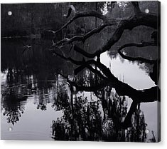 Ripples Of Black And White Acrylic Print by Warren Thompson