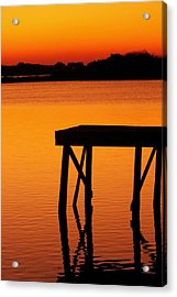 Ripples Of Copper Acrylic Print by Karen Wiles