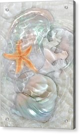 Ripples Of Light On Sand And Shells Acrylic Print