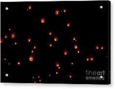 Rise Festival Lanterns 2014 Horizontal Sky Only Number One Acrylic Print