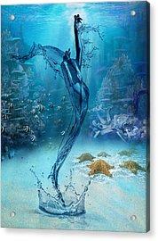 Rise Of The Sea Goddess Acrylic Print
