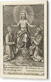 Risen Christ With Peter And Paul, Hieronymus Wierix Acrylic Print