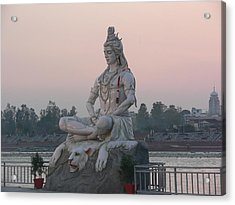 Acrylic Print featuring the photograph Rishikesh by Geeta Biswas