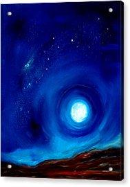 Rising Desert Moon Acrylic Print