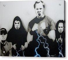 Metallica - ' Rising Metallic Storm ' Acrylic Print by Christian Chapman Art