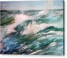 Rising Spume Acrylic Print by Trilby Cole