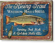 Rising Trout Sign Acrylic Print