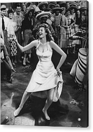 Rita Hayworth Dancing Acrylic Print by Retro Images Archive