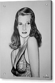 Rita Hayworth Acrylic Print by Geni Gorani