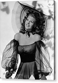 Rita Hayworth In Balck Dress Acrylic Print by Retro Images Archive