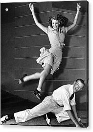 Rita Hayworth Jumping Acrylic Print