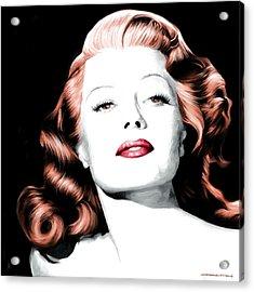 Rita Hayworth Large Size Portrait Acrylic Print