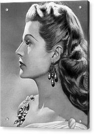 Rita Hayworth Profile  Acrylic Print by Retro Images Archive