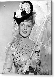 Rita Hayworth Under Umbrella Acrylic Print