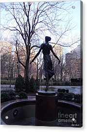 Rittenhouse Square At Dusk Acrylic Print by Lyric Lucas