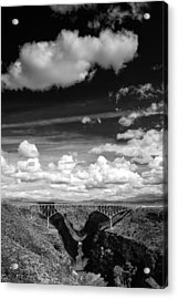 River And Clouds Rio Grande Gorge - Taos New Mexico Acrylic Print