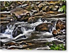 River And Rocks Acrylic Print