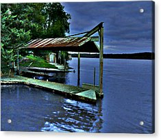 Acrylic Print featuring the photograph River Blues by Lin Haring