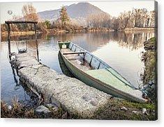 River Boat Acrylic Print