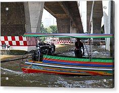 River Boat Taxi - Bangkok Thailand - 01134 Acrylic Print by DC Photographer