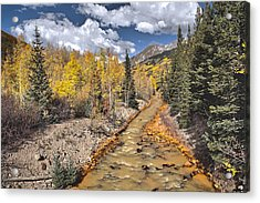 River By Iron Town Colorado Acrylic Print