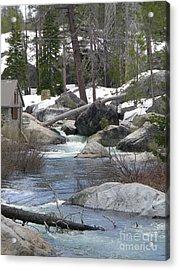 River Cabin Acrylic Print by Bobbee Rickard