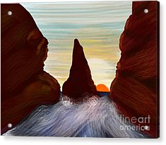 River Chasm Acrylic Print by Judy Via-Wolff