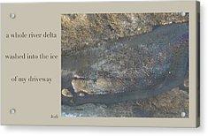 River Delta Haiga Acrylic Print