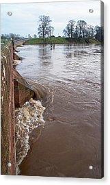 River Eden Flooding. Acrylic Print