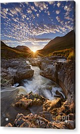 River Etive Acrylic Print by Rod McLean